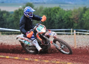 U.S. Junior team rider Travis Coy in a special test on day three.