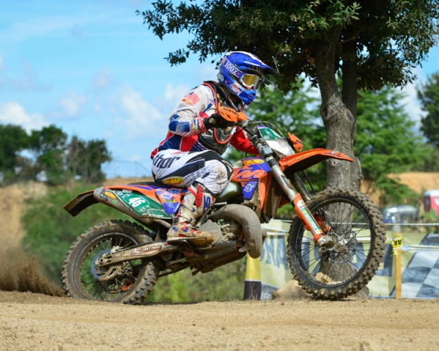 Frist year ISDE rider and US Junior Team rider Kailub Russell.